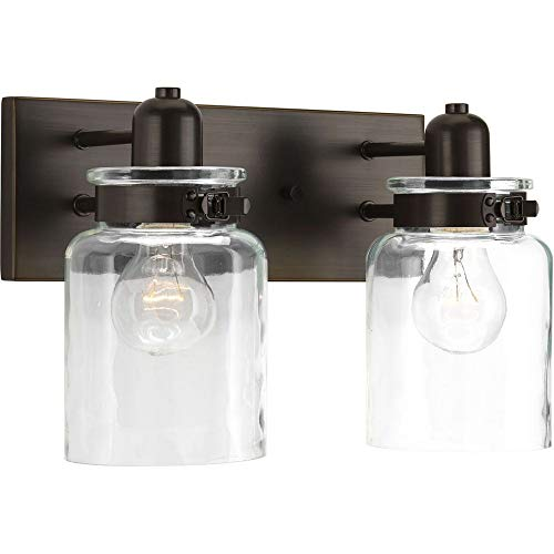 - Progress Lighting P300046-020 Calhoun Collection Two-Light Bath & Vanity, Antique Bronze