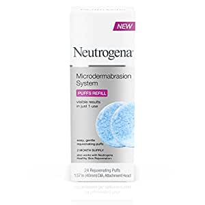 Neutrogena Skin Exfoliating and Firming At-Home Microdermabrasion System, Facial Puff Refills, 24 count