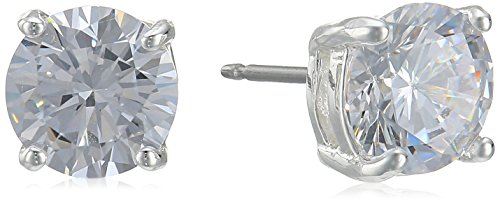 Carolee Medium Cubic-Zirconia Stud (Carolee Round Earrings)