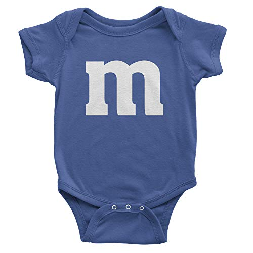 Letter M Halloween Costume Rabbit Skins Infant Fine Jersey Lap Shoulder Bodysuit (6M, Royal Blue) -