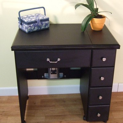 Auntie Black Laminate Airlift Sewing Cabinet by Arrow Sewing Cabinets