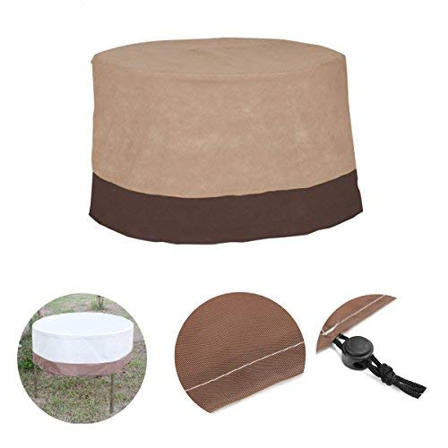 Bout Board Underwrite - 48inch Round Waterproof Outdoor Patio Table Chair Cover Furniture Protection - Encircle Hatch Polish Report Discoid Cross Moonlike Treat Moon-Round Wrap