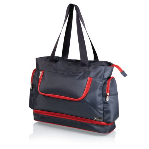 Picnic Time Insulated 'Beach Cooler' Tote, Grey/Red