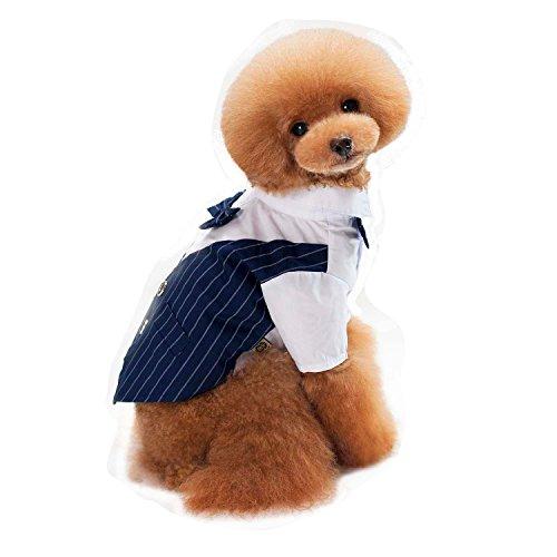 Farjing Clearance Puppy Shirt ,Pet Dog Shirt Suit Wedding Groom Tuxedo Puppy Gentleman Suit Bowtie (2XL,Blue (Cabelas Bows)