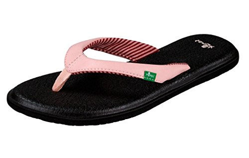 Sanuk Women's Yoga Chakra Flip Flop, Strawberry Cream, 11 M US from Sanuk