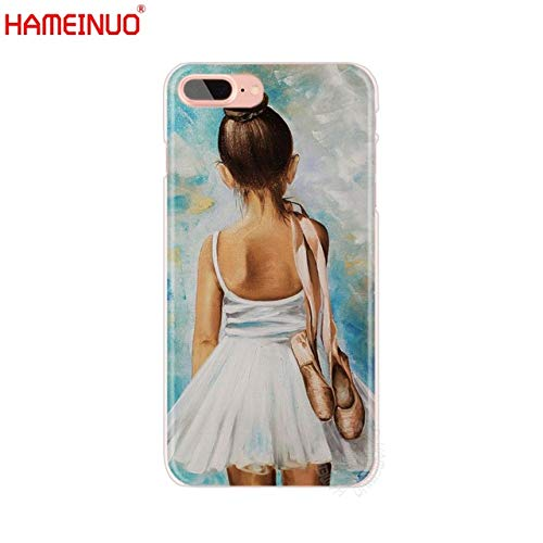 MISC Blue White Ballerina Girl iPhone 7 Case Dancing Themed 8 Cover Ballet Dancer Italian Classical Pointe Shoes Dance Plastic