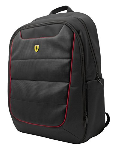 Ferrari Backpack Black with Red Piping