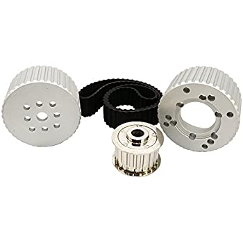 SBC Small Block Chevy Long Water Pump Gilmer Belt Drive Pulley Kit 305 350 400
