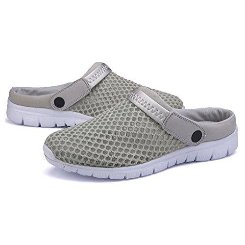 andar Malla Zapatos Pantuflas Unisex Antideslizantes Verano Playa Gris Hibote Adultos sandalias Sandalias De Respirable R Mulas wqTaHC