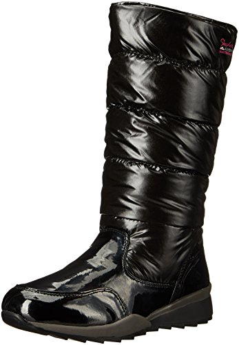 Skechers Women's Anchored-Tall Quilted Snow Boot, Black Patent, 10 M US - Skechers Tall Boots