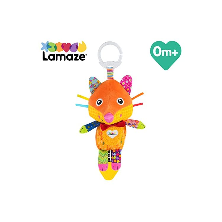 LAMAZE, Flannery the Fox Baby Toy Clip On Baby Pram Toy Pushchair Toy with Baby Teether Newborn Sensory Toy for Babies…