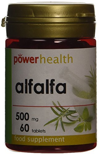 Power Health Alfalfa 500mg - Pack of 60 Tablets by Power (500 Tab Alfalfa Tablets)