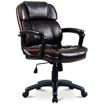 Magnificent Amazon Com Brenton Studio Briessa Vinyl Mid Back Chair Alphanode Cool Chair Designs And Ideas Alphanodeonline