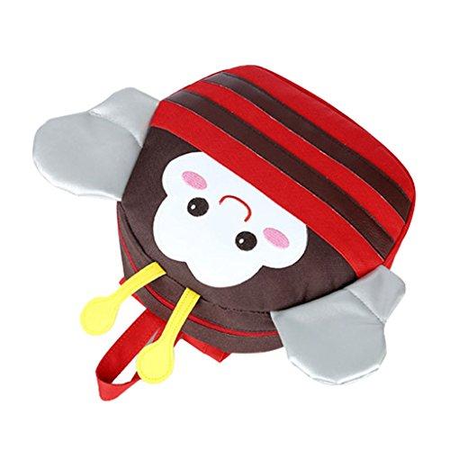 GWELL Biene Mini Rucksack Kinder Anti-verlorene Tasche Babyrucksack Kindergartenrucksack Backpack Kleinkind rot