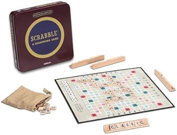 Winning Solutions Ganar soluciones Nostalgia Lata Scrabble Juego: Amazon.es: Juguetes y juegos