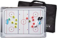 Double-Sided Aluminum Alloy Magnetic Ice Hockey Tactic Board, Coach Tactic Board, Athlete Training Demonstrati