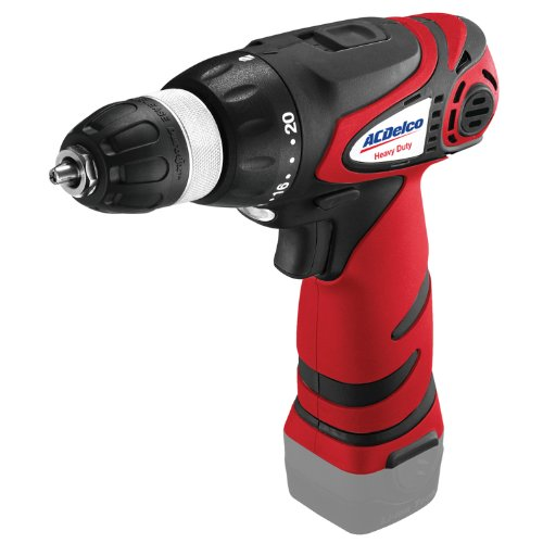 ACDelco ARD1296T Li-ion 12V 3/8-inch 2-speed Drill Driver, 345/1240 RPM, Bare Tool - 12v 2 Speed Reversible Drill