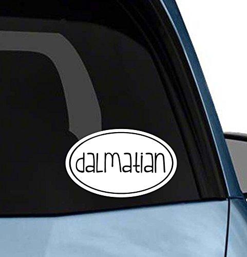 Cute Dog euro oval sticker car window or laptop vinyl decal art (Choose your dog please) (Dalmatian Halloween Costume Diy)