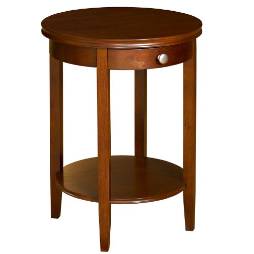 Powell Shelburne Cherry Accent (Maple Round Accent Table)