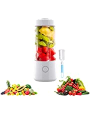 Portable Blender, BENBOR Personal Blender & Smoothie, Handheld Electric Fruit Mixer with Cup Brush, Six Blades, USB Rechargeable, Waterproof Blender for Outdoors Home Office (White)
