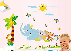 Cute Animal Elephant Stickers Removable DIY Wall Stickers