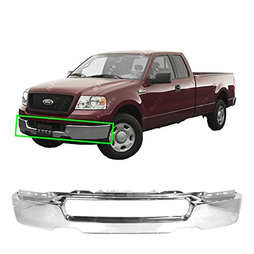 BUMPERS THAT DELIVER - Chrome, Steel Front Bumper Face Bar Shell for 2004-2006 Ford F-150 Pickup 04-06, FO1002388