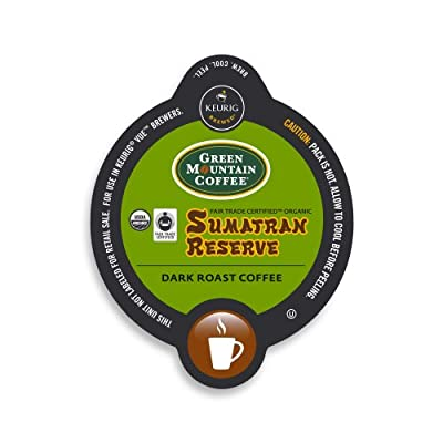 Green Mountain Coffee Fair Trade Organic Sumatran Reserve, Vue Cup Portion Pack for Keurig Vue Brewing Systems (96 Count)