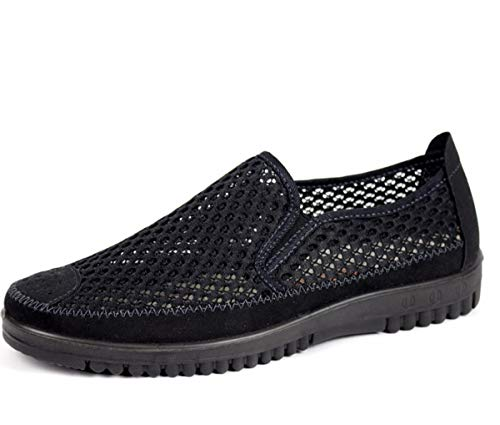Casual Mesh Three Middle Shoes Shoes Aged Elderly Soft Light Summer Forty Bottom Shoes Shoes For And Shoes Men'S With KPHY And For Men Women'S Black Net In qXnP4