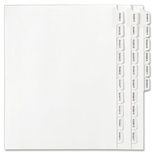 Avery Collated Legal Dividers Allstate Style, Letter Size, EXHIBIT A-Z Tab Set ( 82105)