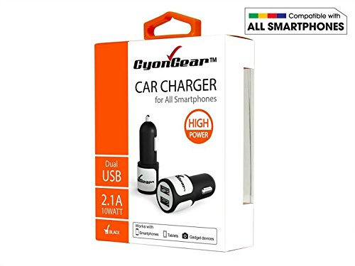 Cell Accessories For Less (TM) CyonGear High Power 10W / 2.1A Dual USB Fast Car Charger for Pantech Renue 6030 Bundle (Stylus & Micro Cleaning Cloth) - By TheTargetBuys
