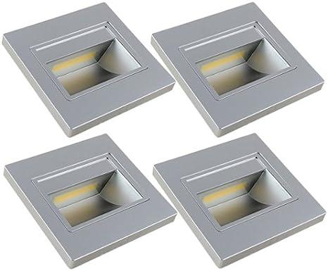 MENGS Paquete de 4 Bombilla LED 1W COB Lámpara LED, Equivalente 8W Halógena lampara LED, Blanco Cálido 3000K, AC 110V-260V, 120LM luces LED: Amazon.es: Iluminación