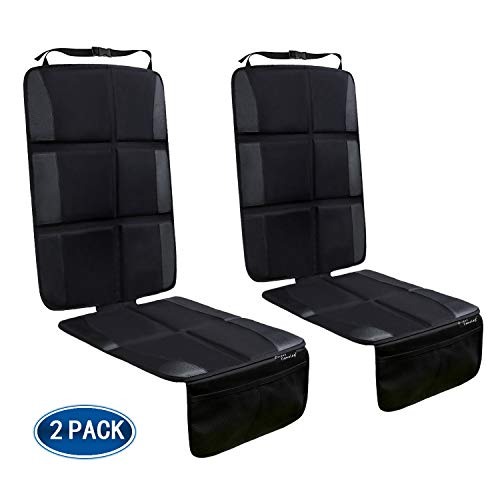 Buy Bargain Car Seat Protector, 2 Pack Large Car Seat Protectors for Child Baby Car Seat with Organi...