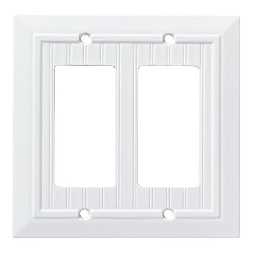 Franklin Brass W35272-PW-C Classic Beadboard Double Decorator Wall Plate/Switch Plate/Cover, Pure -