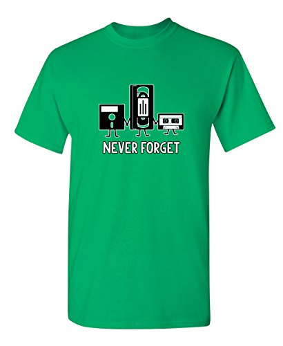 Never Forget Funny Novelty Graphic Sarcastic T Shirt L ()