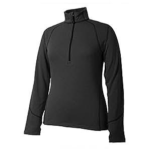 Terramar Grid Fleece Wmns Ls Zip Blk Sm W8312-010