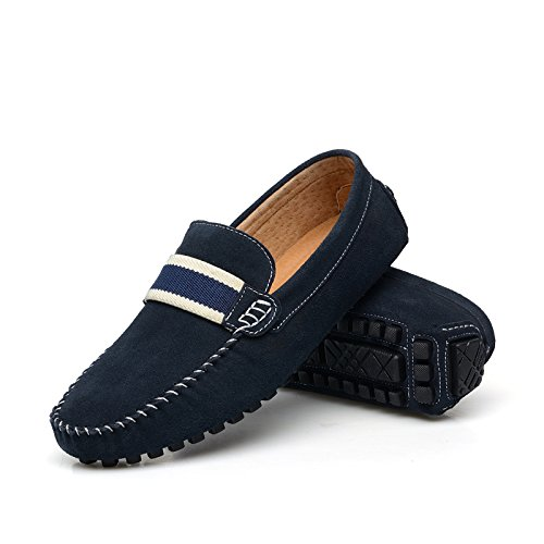 8 UK Mens on Slippers Size Lint Slip 7599 DarkBlue Outstanding CFP Comfort Loafers Casual Driver f76wHnqW