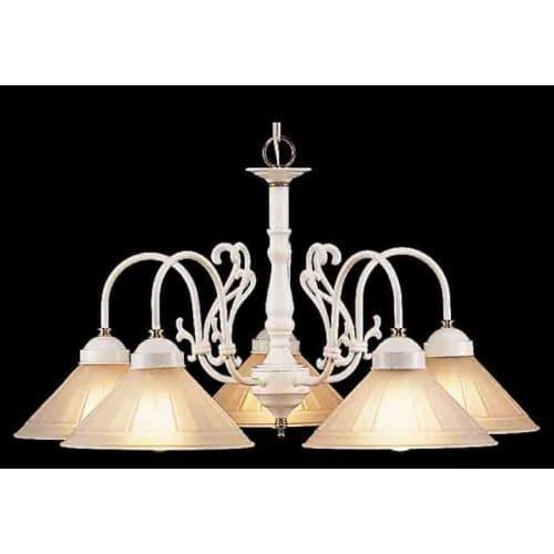 Biltmore Five Light (Classic Lighting 3055 W/PB Biltmore, Traditional, Chandelier, 27