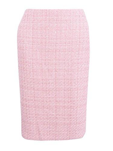 Tahari ASL Women's Boucle Tweed Pencil Skirt (18, Palm Pink) (Tweed Clothes)