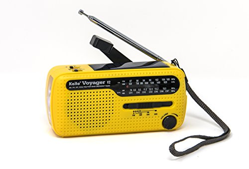 Kaito Best NOAA and SW Portable Solar / Hand Crank AM/FM, Shortwave & NOAA Weather Emergency Radio with USB Cell Phone Charger & LED Flashlight - Radio Cellular