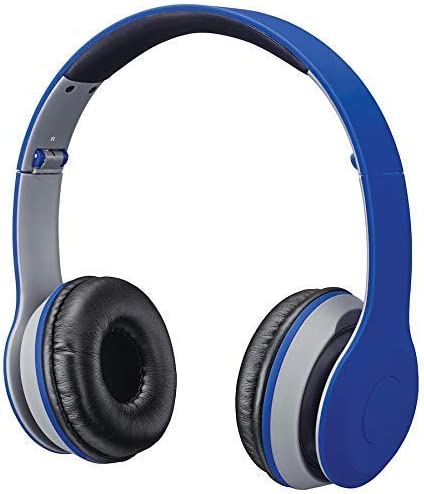 iLive Electronics IAHB38 Bluetooth Over-The-Ear Headphones, Blue