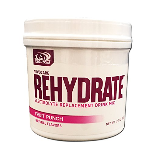 Advocare Rehydrate Electrolyte Replacement Drink Fruit Punch Canister 12.7oz