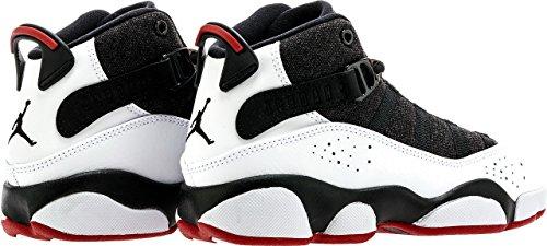 Jordan 6 Rings Kleine Kinderen Zwart / Rood / Wit