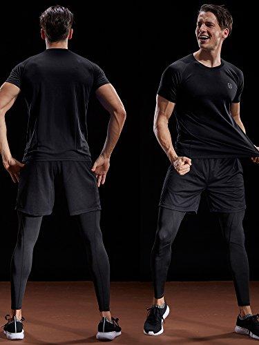 Neleus Men's Dry Fit Mesh Athletic Shirts 15