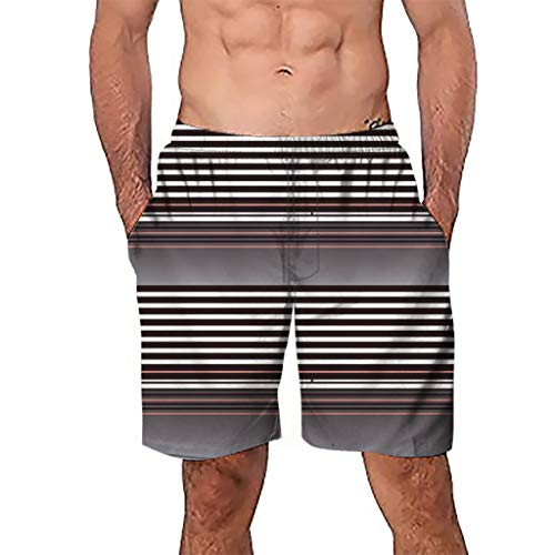 (Quick Dry Board Shorts Mens, Casual 3D Short Beach Pants for Mens Swim Trunk Surf Board Shorts)