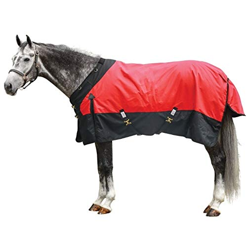 StormShield Contour Collar Classic Surcingle Horse Turnout Sheet | Red - Size 82 | 1200D Waterproof, Windproof & Breathable Outer Cover | Criss-Cross Surcingle