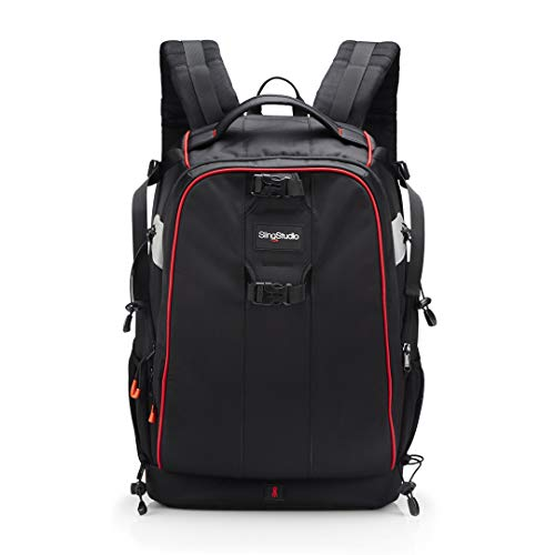 SlingStudio Backpack - Backpack with Padded Pockets for Equipment and Devices - Black from Sling Media