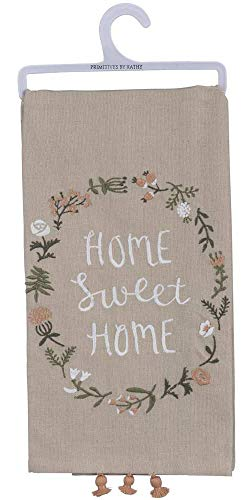 - Primitives by Kathy Cathy Heck Studios Embroidered Dish Towel Sweet Home