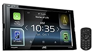 """JVC KW-V830BT Double DIN Bluetooth in-Dash DVD/CD/AM/FM Car Stereo Receiver w/ 6.8"""" Touchscreen LCD Display, Apple Car Play, Android Auto"""