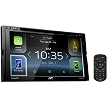 "JVC KW-V830BT Double DIN Bluetooth In-Dash DVD/CD/AM/FM Car Stereo Receiver w/ 6.8"" Touchscreen LCD Display, Apple Car Play, Android Auto"