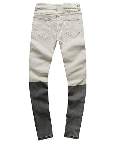 Homme Slim Aspecture Destroy Biker Jean Simple Pantalon Skinny Serré Denim qU8qBrnz